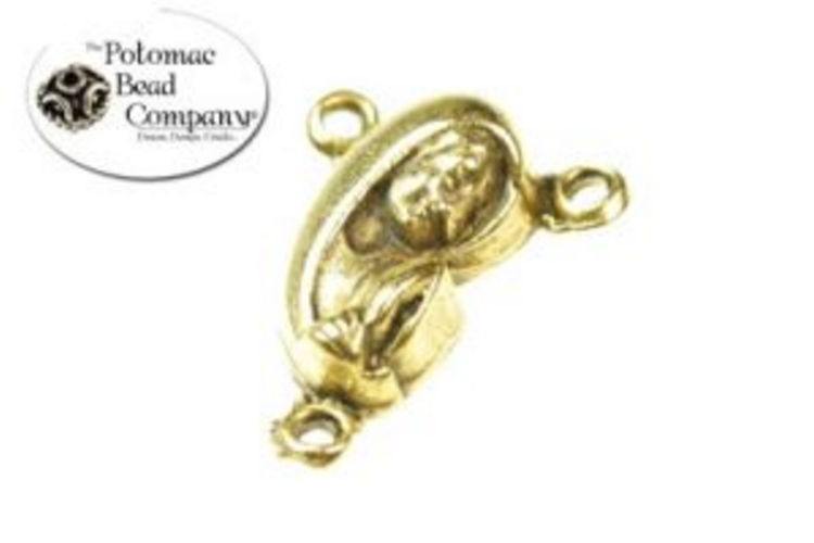 Blessed Mother Center Antique Gold