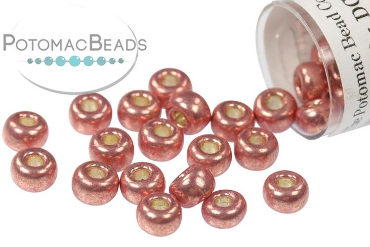 Miyuki Seed Beads - Duracoat Galvanized Dark Coral 6/0
