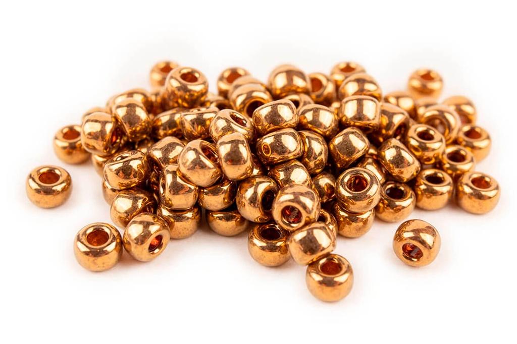 Miyuki Seed Beads - Metallic Light Bronze 8/0