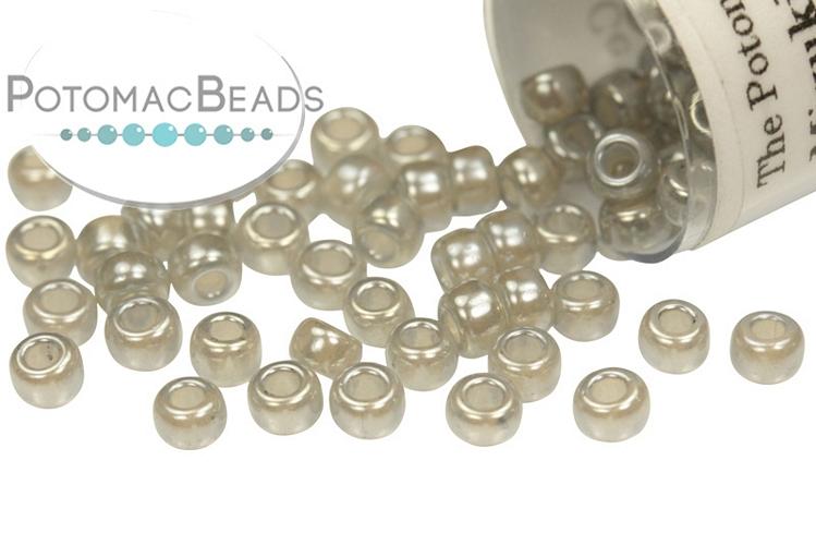 Miyuki Seed Beads - Silver Gray Ceylon 8/0