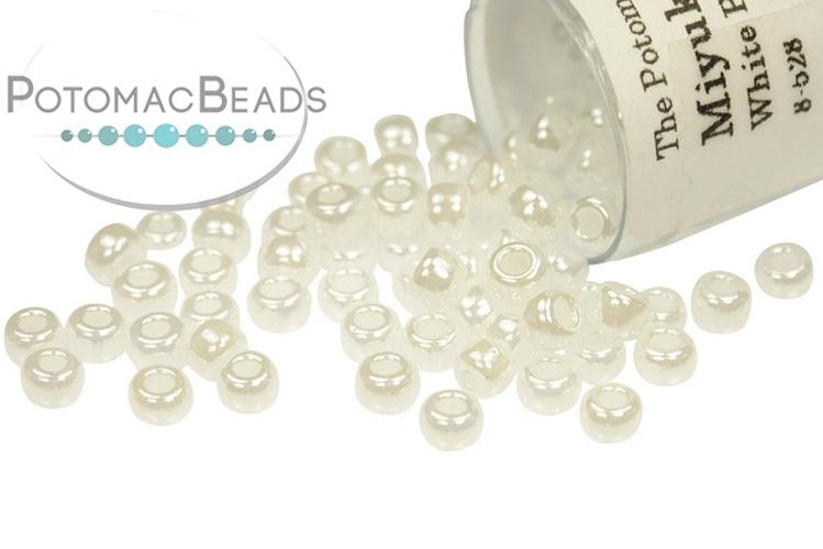 Miyuki Seed Beads - White Pearl Ceylon 8/0