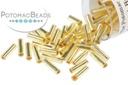 Miyuki Bugle - Silver Lined Gold 6mm