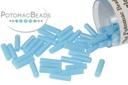 Miyuki Bugle - Opaque Turquoise Blue 6mm