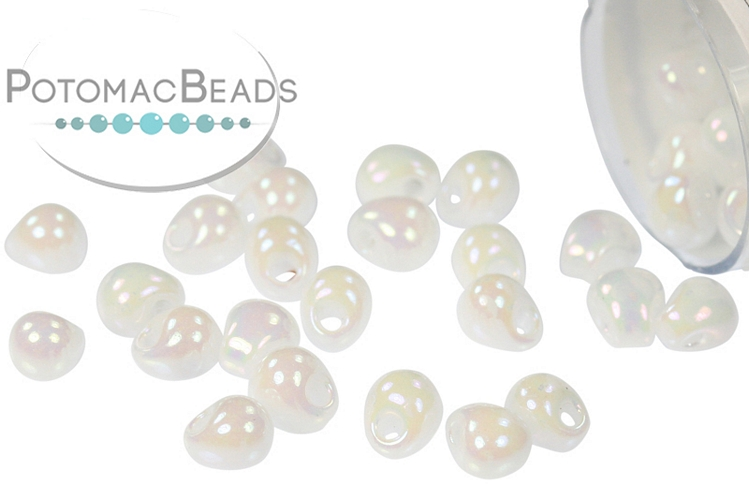 Miyuki Drop - White Pearl AB 3.4mm