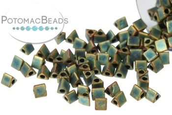 [74625] Miyuki Sharp Triangle Beads - Matte Metallic Patina STR10-2008