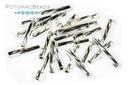 Miyuki Twisted Bugle - Silver Lined Crystal