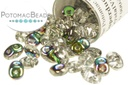 SuperDuo Beads - Crystal Vitrail 2.5x5mm