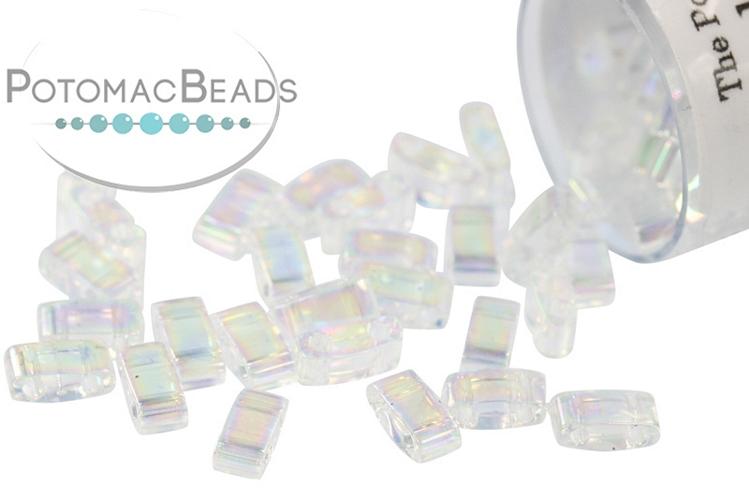 Miyuki Half Tila Beads - Crystal AB