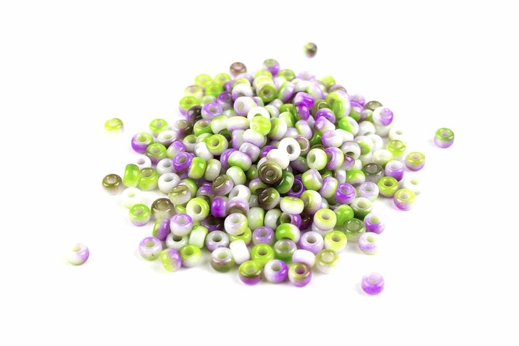 Miyuki Seed Beads - White Funky Orchid 11/0