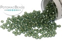 Miyuki Seed Beads - Dyed Semi-Frosted Silver Lined Moss Green 15/0