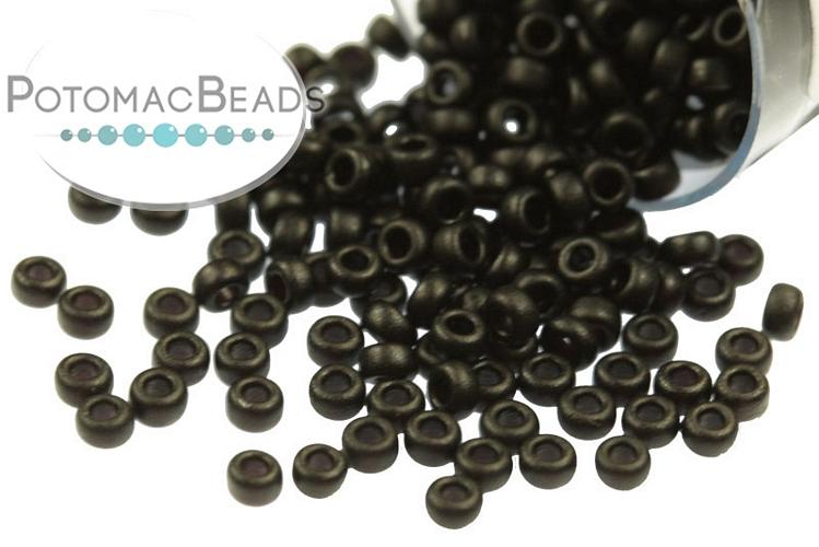 Miyuki Seed Beads - Matte Black 15/0