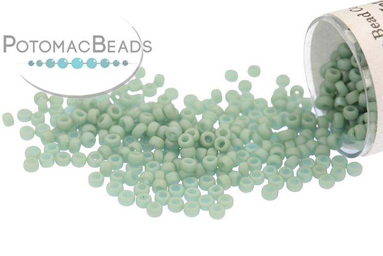 Miyuki Seed Beads - Matte Opaque Sea Foam Luster 15/0