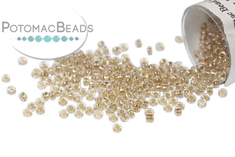 Miyuki Seed Beads - Sparkle Beige Lined Crystal 15/0