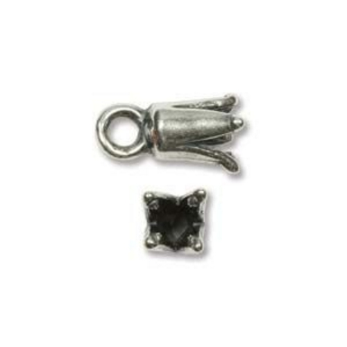 Cord End 10mm Silver Plated