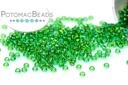Miyuki Seed Beads - Transparent Green AB 15/0