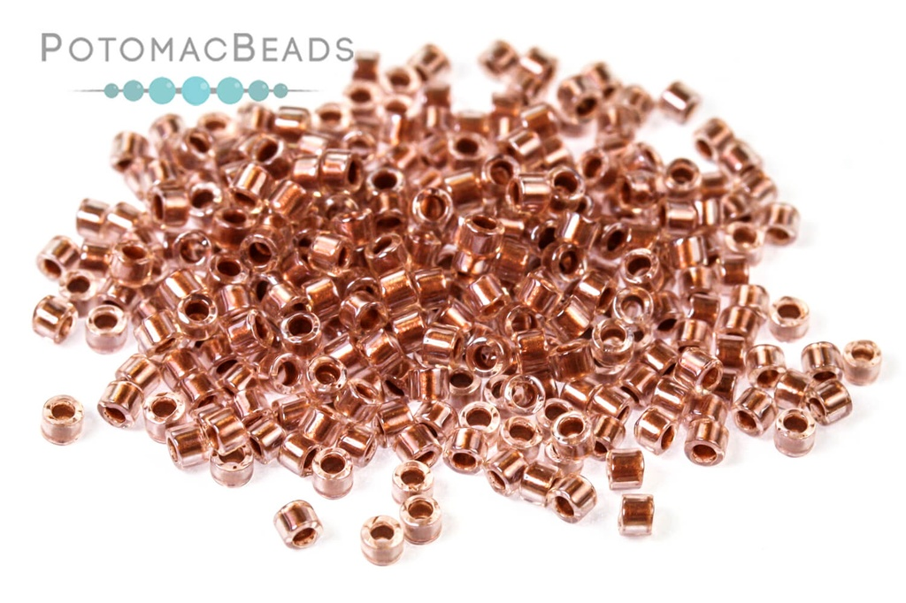 DB1704 Miyuki Delica Beads Copper Pearl Lined Pink Mist 11/0