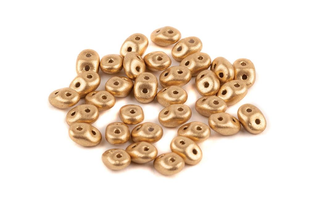 SuperDuo Beads - Aztec Gold 2.5x5mm