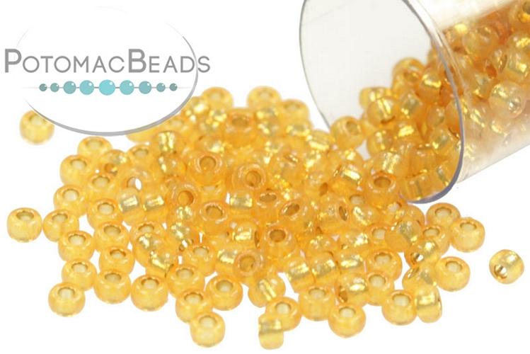 Miyuki Seed Beads - Duracoat Silver Lined Golden Flax 11-4231