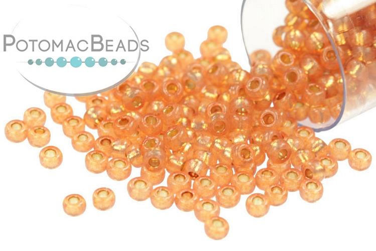 Miyuki Seed Beads - Duracoat Silver Lined Rose Gold 11-4233