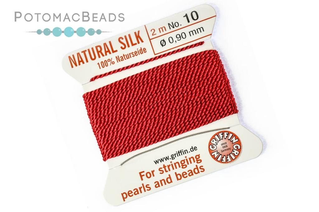 Silk Cord w/ Needle - 10 Red