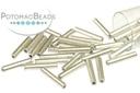 Czech Bugle Beads - Bronze Aluminum 12mm