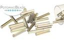 Czech Bugle Beads - Crystal Rainbow Graphite 12mm