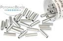Czech Bugle Beads - Aluminum Silver 7mm (tube)