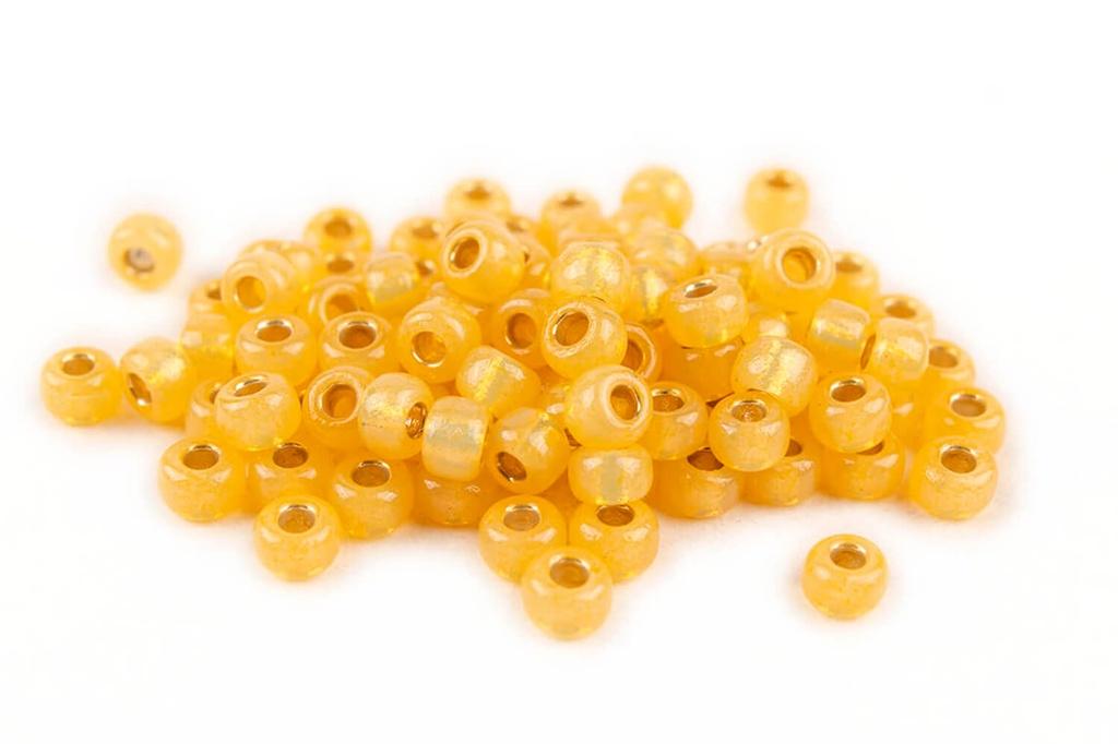 Miyuki Seed Beads - Duracoat Silver Lined Light Yellow 8/0
