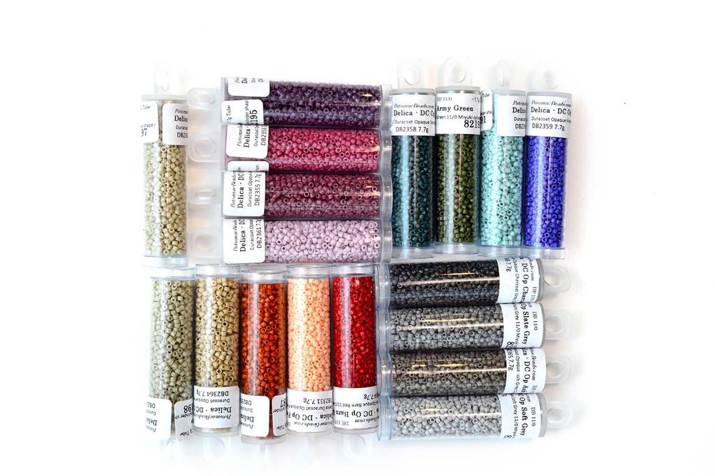 Delica Kit - Miyuki Duracoat Opaque 11/0 (18 NEW 2019 Colors) DB2351-DB2368