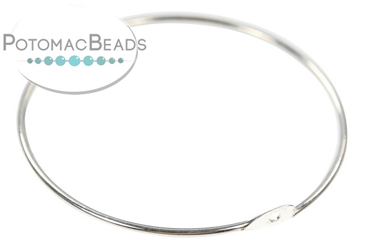 Beading Hoop 30mm Silver Plated