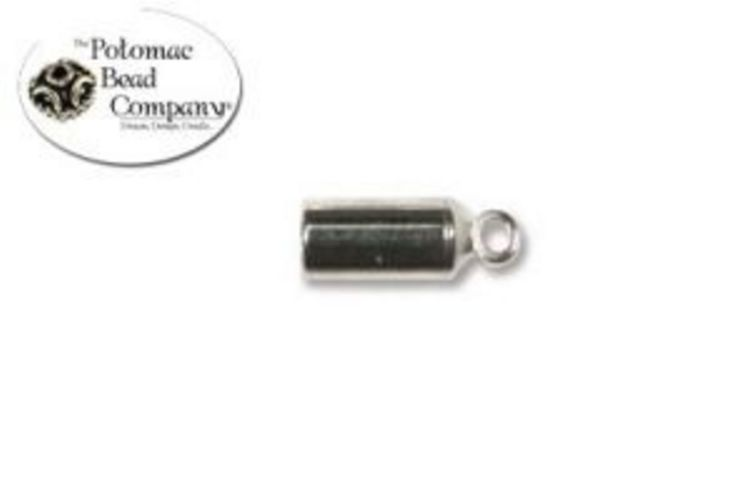 Barrel End Caps 3mm Silver Plated