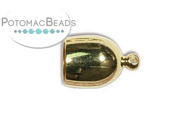 Bullet End Cap 8mm Gold Plated