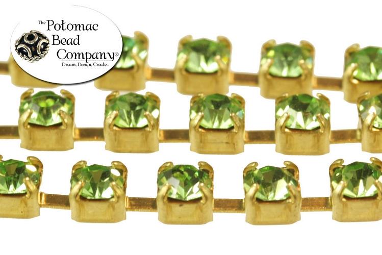 Cup Chain - Peridot Brass SS12 (per inch)