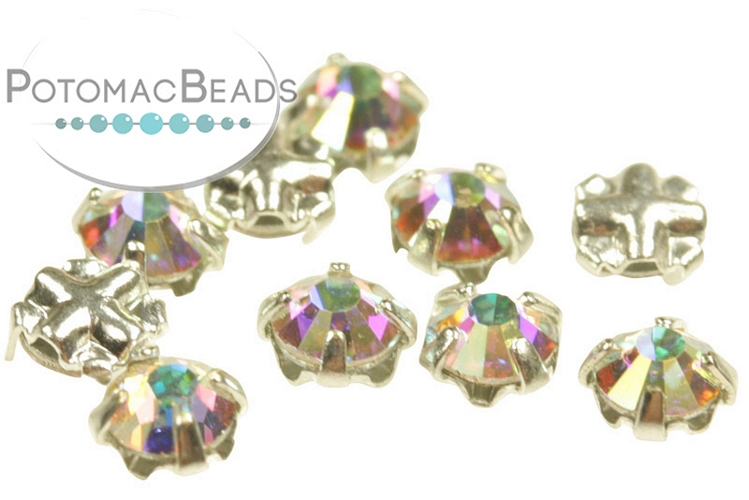 Rose Montee Crystals - Crystal AB Silver (SS12) 3mm