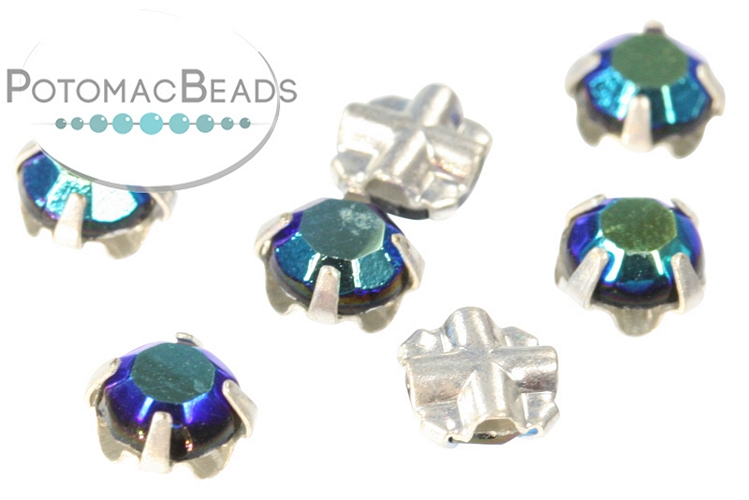 Rose Montee Crystals - Jet AB Silver (SS20) 4.6-4.8mm