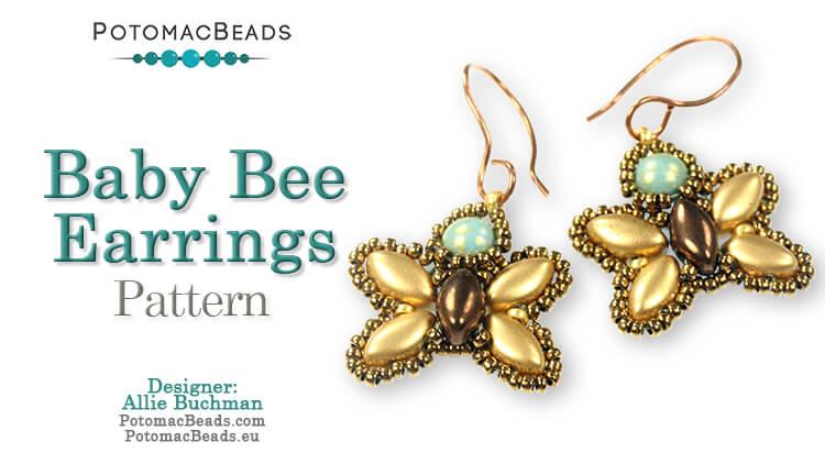 Baby Bee Earrings Pattern