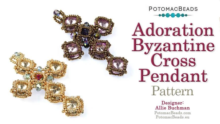 Adoration Byzantine Cross Pendant Pattern