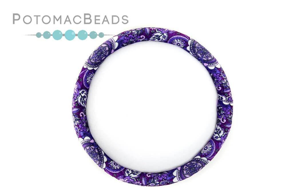 "Bead On It Board - Purple Paisley  (12"" Round)"