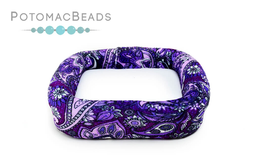 "Bead On It Board - Purple Paisley (6x6"" Square)"