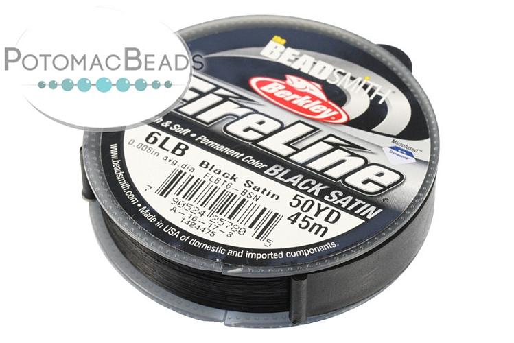 "Fireline Beading Thread Black Satin 6 Pound (.006"" 50 yards)"