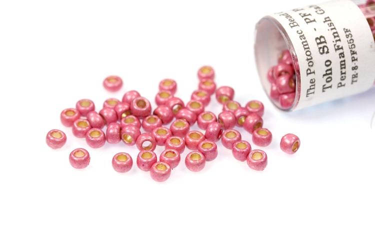 Toho Seed Beads - PermaFinish Pink Lilac Matte 8/0