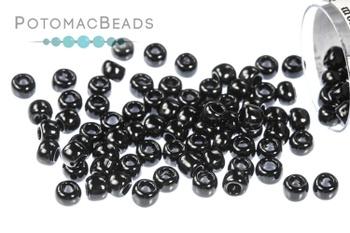 [130574] Toho Seed Beads - Opaque Jet 8/0