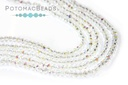 Potomac Crystal Rondelle Beads - Crystal AB 1.5x2mm Strand