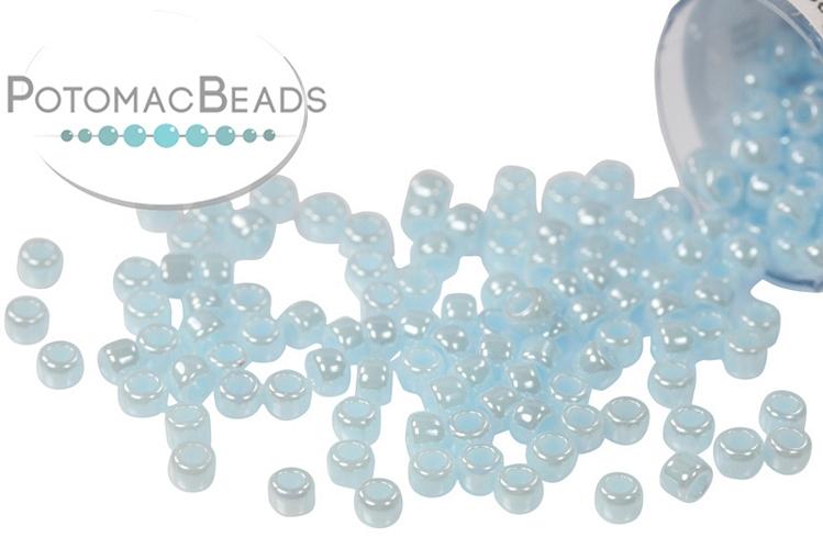 Toho Seed Beads - Opaque Lustered Pale Blue 11/0