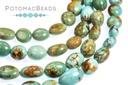 "Gemstones - Kingman Turquoise Nuggets 8.5-12mm 8"" Strand"