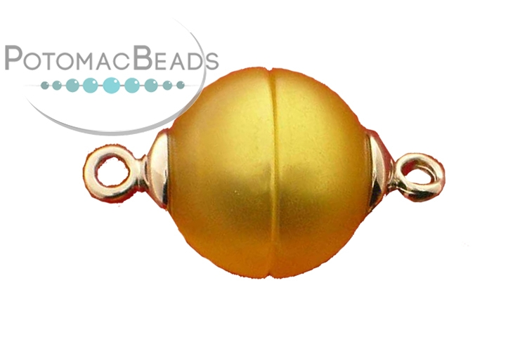 Claspgarten Clasp Gold Pearl Magnetic 12mm Silver (Rhodium Plated)