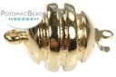 Claspgarten Clasp Grooved Round 1-loop Gold (23kt Gold Plated)