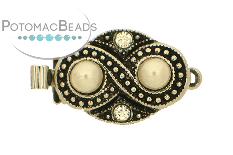 Claspgarten Clasp Infinity Pearls 1-loop (Antique Gold Plated)