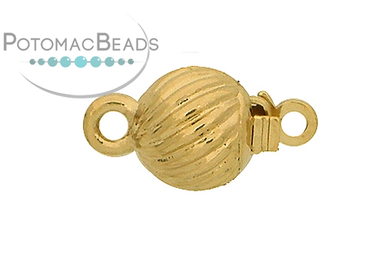 Claspgarten Clasp Round Swirl 7mm Gold (23kt Gold Plated)
