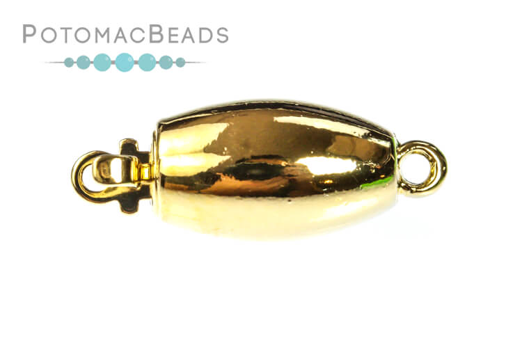 Claspgarten Clasp Smooth Barrel 1-loop Gold (23kt Gold Plated)